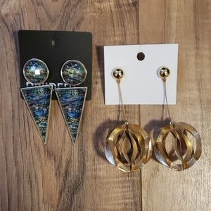 H&M Dangle Drop Earring Long Holiday Rave Party
